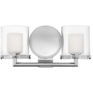 Rixon 2 Light Bathroom Vanity Light in Chrome