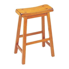 ACME Furniture Gaucho 24-inch Counter Stool In Oak (Set Of 2)