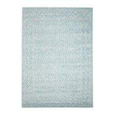 - Arcadia Blue Beige Patterned Transitional Designer Rug - Floor Rugs