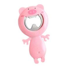 Set of 2 Bottle Opener PVC Shell Cute Pig Shape Bottle Opener Pink Bottle Opener
