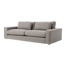 Contemporary Gray Fabric Upholstered Sofa 98-inch
