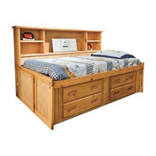 Harley's Big Bookcase Captain's Bed, Full