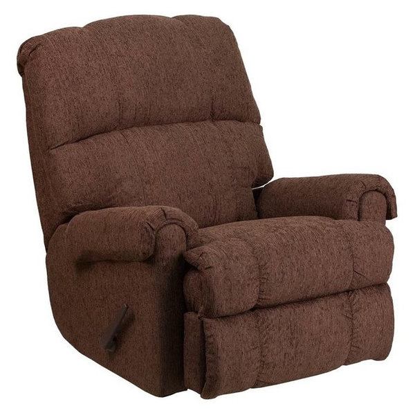 Chenille Rocker Recliner, Chocolate