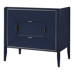 "Ronbow 36"" Amora Bathroom Vanity Cabinet Base, Navy"
