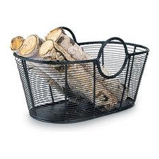 achla designs achla designs steel harvest decorative basket firewood racks - Firewood Racks