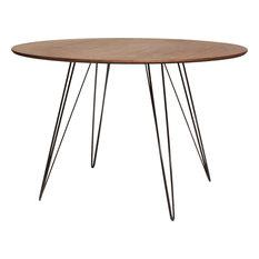 Williams Oval Dining Table - Black, Small, Walnut