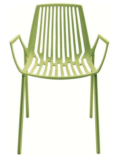 Rion Karmstol Stapelbar, Acid Grön - Udendørs spisebordsstole