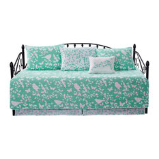 """Birdsong 6-Piece Quilted Daybed Set, Teal, Daybed, 75""""x39"""""""