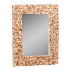 Cross Natural Teak Mirror