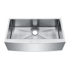 Starstar Stainless Steel Undermount Farmhouse Single Bowl Kitchen Sink, 35x20x10