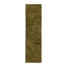 Collection Hand Woven Shag Rug 2.25' x 11'- sage