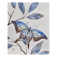 """Butterfly Painting, Original Watercolor Illustration, Butterfly Wall Art, 8""""x10"""""""