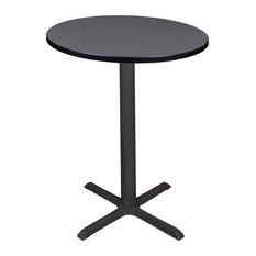 """Cain 30"""" Round Cafe Table, Gray"""