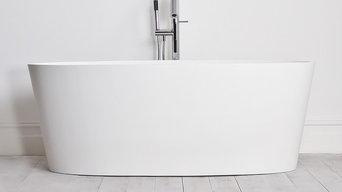 AMARI STONE ENZO SOLID COMPOSITE STONE FREESTANDING BATH 1600 x 750
