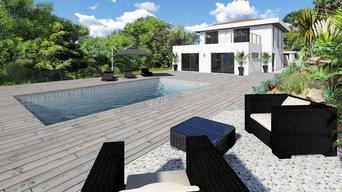 Plans de maisons et extérieurs