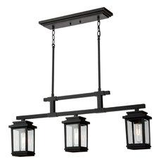 Freemont Outdoor Ceiling Light - Black, 3