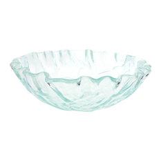 Eden Bath   Vessel Sinks   Eden Bath GS11 Clear Freeform Wave Glass Vessel  Sink   Part 83