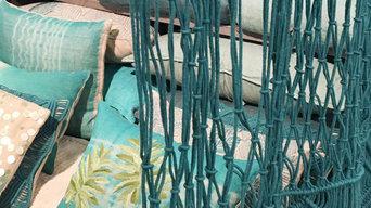 Portière en Macramé : Des teintes bleu Turquoise, Canard, Lagon