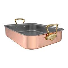 Mauviel M'Héritage Roasting Pan, Bronze Handles