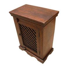 Crisfield Solid Wood Lattice Design Door Handcrafted Nightstand