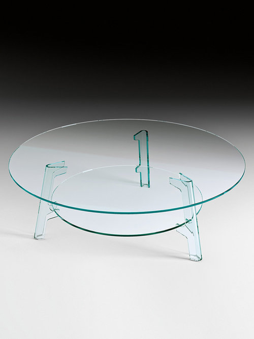 Flute Round Glass Coffee Table   Coffee Tables