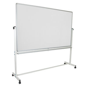 "Hercules Series 84""Wx77.75""H Double-Sided Mobile White Board With Pen Tray"