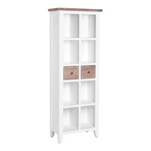 2-Drawer Bookcase, Pure White