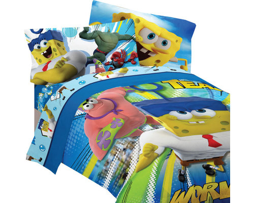 Store51   Spongebob Movie Bedding Set, Mr. Awesome Comforter Sheets, Full    Kids