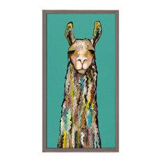"""""""Llama"""" Mini Framed Canvas by Eli Halpin"""