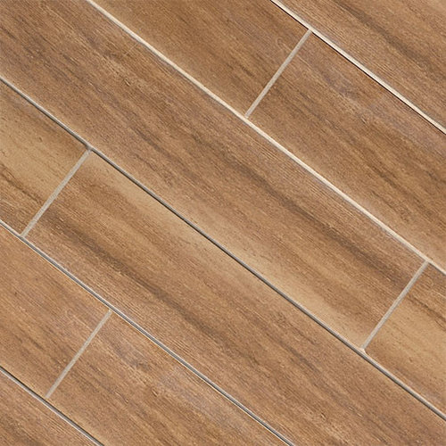 Cherry Wood Plank Porcelain - Wall And Floor Tile - Wood Plank Porcelain Tile