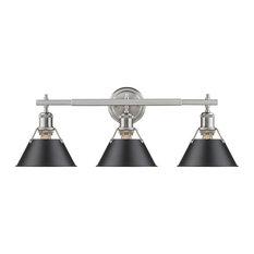 Bathroom Vanity Lights In Black bathroom vanity lights with a black shade | houzz