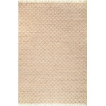 nuLOOM - Handmade Transitional Flatwoven Diamant Area Rug, Natural, 5'x8' - Made from the finest materials in the world and with the uttermost care, our rugs are a great addition to your home. Features Style: Natural Fibers, Casuals, Geometric, Jute & Sisal Material: 80% Jute, 20% Cotton Handmade Origin: India Note: All rug sizes are approximate. Due to the difference of monitor colors, some rug colors may vary slightly. We try to represent all rug colors accurately.