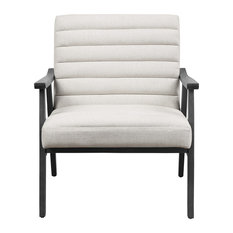Asher Chair Linen Fabric With Gray Washed Frame