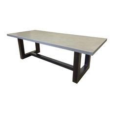 Wood Zen Concrete Dining Table, Concrete, 84x40