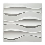 "19.7"" x 19.7"" Art3d Textures PVC Wall Panels, Big Wave 3D Panelling, Set of 12"