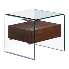 Zuo Modern Contemporary   Shaman Side Table, Walnut   Side Tables And End  Tables