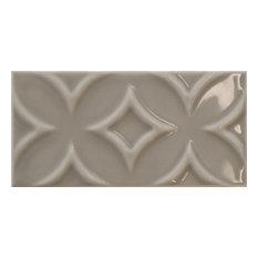Taupe Metro Raised Pattern Patchwork (5 designs) Tiles 7.5 x 15 cm, 1m²