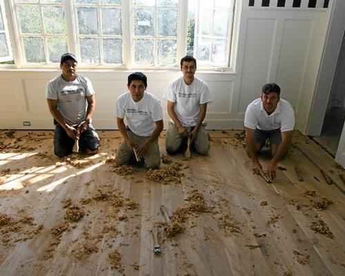 Before Photo - Hand Scraping Wood Floors