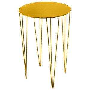 Chele Rounded Coffee Table, Traffic Yellow