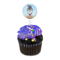 As the Pigeon Coos Cupcake Toppers Picks Set