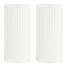 Groovy Salt and Pepper Shakers, White, Set of 4