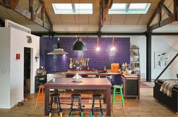 Eclectic Kitchen by MCAS - Max Capocaccia Architecture Studio