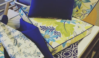 Outdoor cushions reupholstered