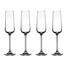 Elite Vivere Champagne Flutes, Set of 4