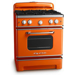 """Big Chill - Big Chill Retro Stove, Orange - Big Chill Stoves have all the functionality of a modern appliance with vintage design and color. Cooking like a pro is easy with the Big Chill stove. The full motion grates let you slide pots and pans from front to rear burners without lifting them. It has the largest oven capacity on a 30"""" stove and will accommodate a commercial size baking sheet. Choose from eight standard colors."""