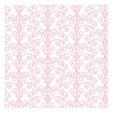 Simply Swirls Pink Shelf Paper Drawer Liner, 36x12, Matte Paper
