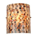 "Chloe Lighting Shelley Mosaic 1-Light Wall Sconce, 8.3"" Wide"