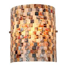 "Chloe Lighting Shelley Mosaic 1-Light Wall Sconce, 8.3"" Wide"