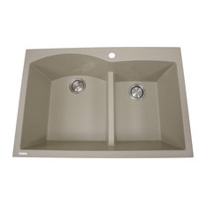 Nantucket Sinks 60/40 Double Bowl Dual-Mount Granite Composite, Sand