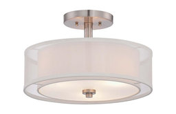 Minka Lavery 4107-84 Parsons Studio - 3 Light Semi-Flush Mount